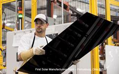 Dünnschichtmodule bei First Solar/Ohio