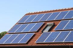 Photovoltaikanlage auf einem Wohngebäude