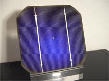 Solarzelle zeigt Waferform